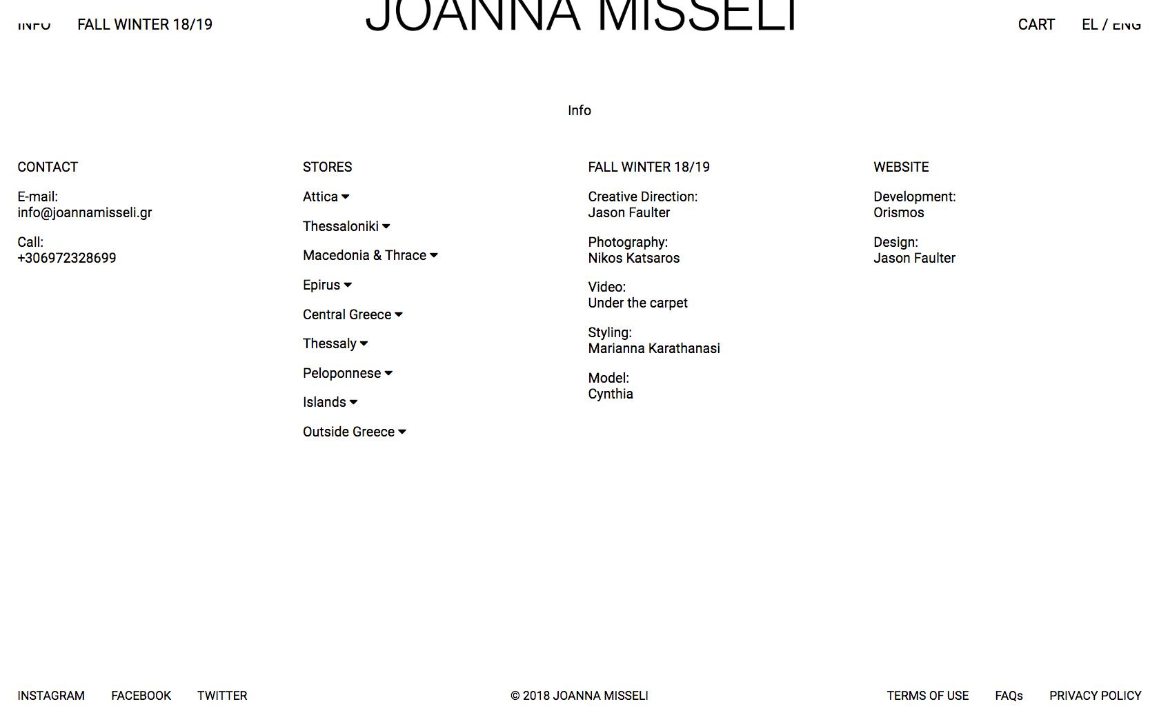 • Joanna Misseli – Creative direction + Visual identity + Website 8