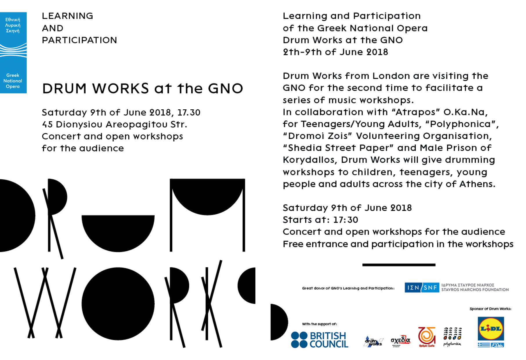 • Drum Works at the GNO – Flyer 0