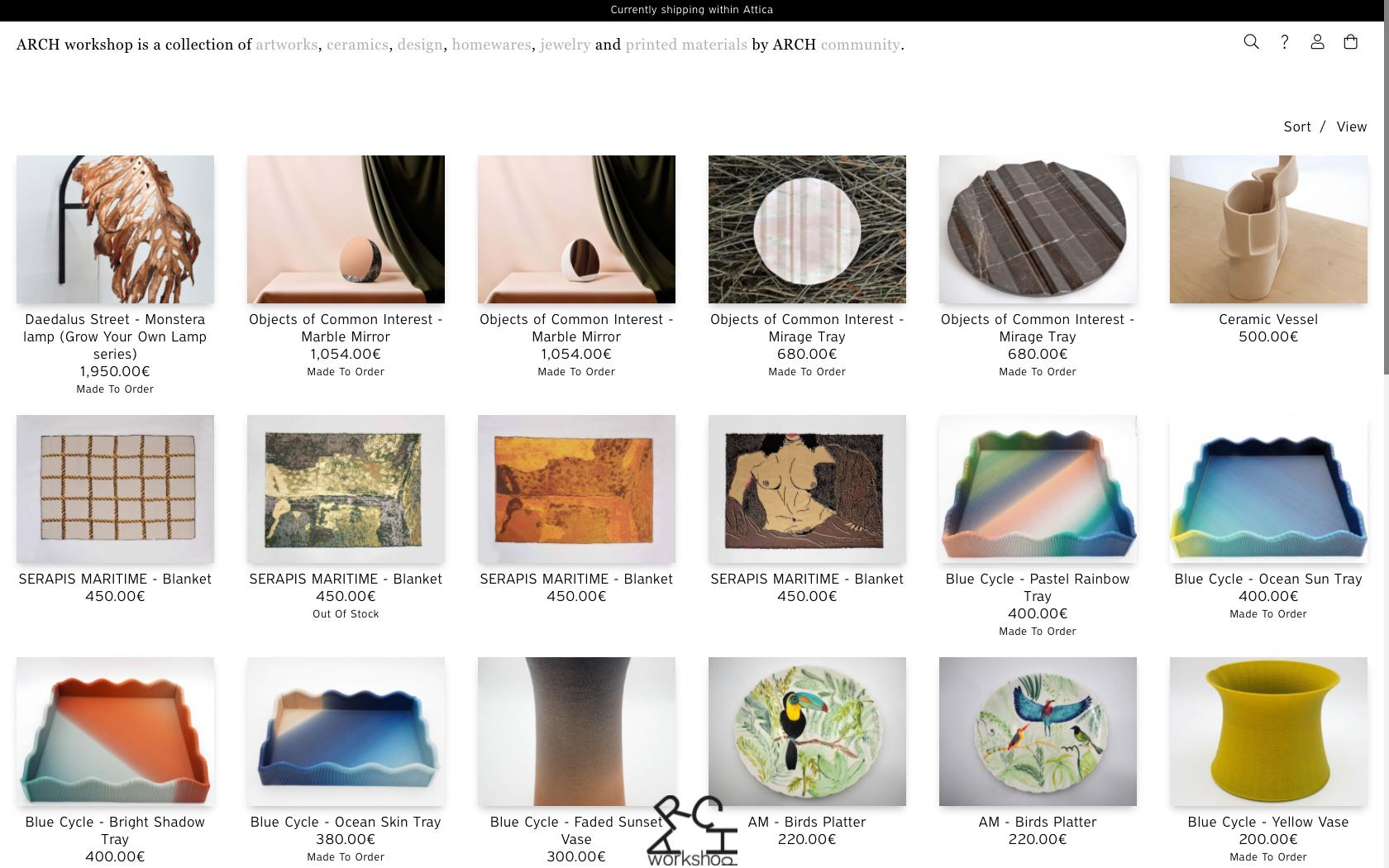 • ARCH workshop – Visual identity + E-Commerce website 0