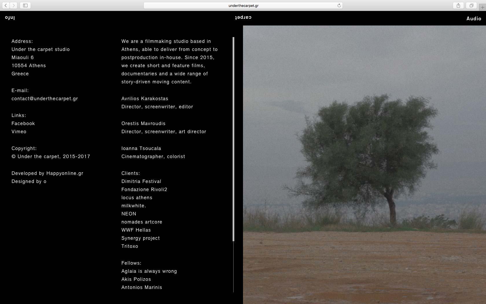 • Under the carpet – Visual identity + Website 4