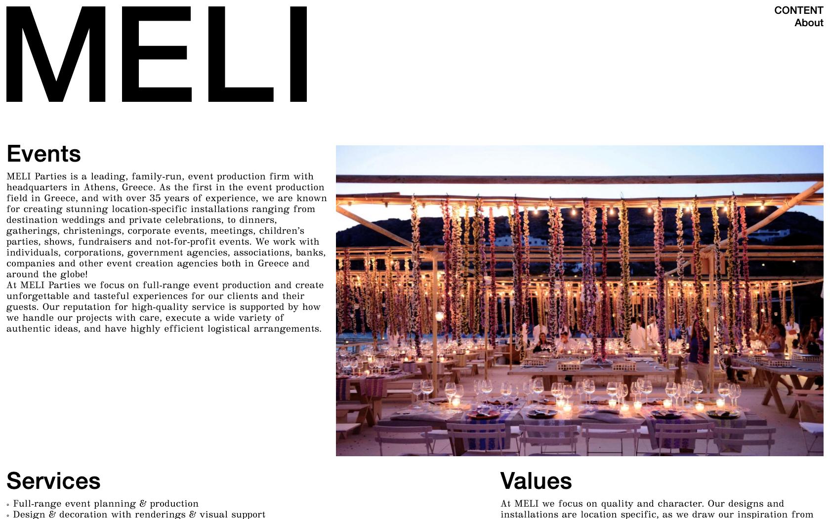 • MELI parties – Website 0