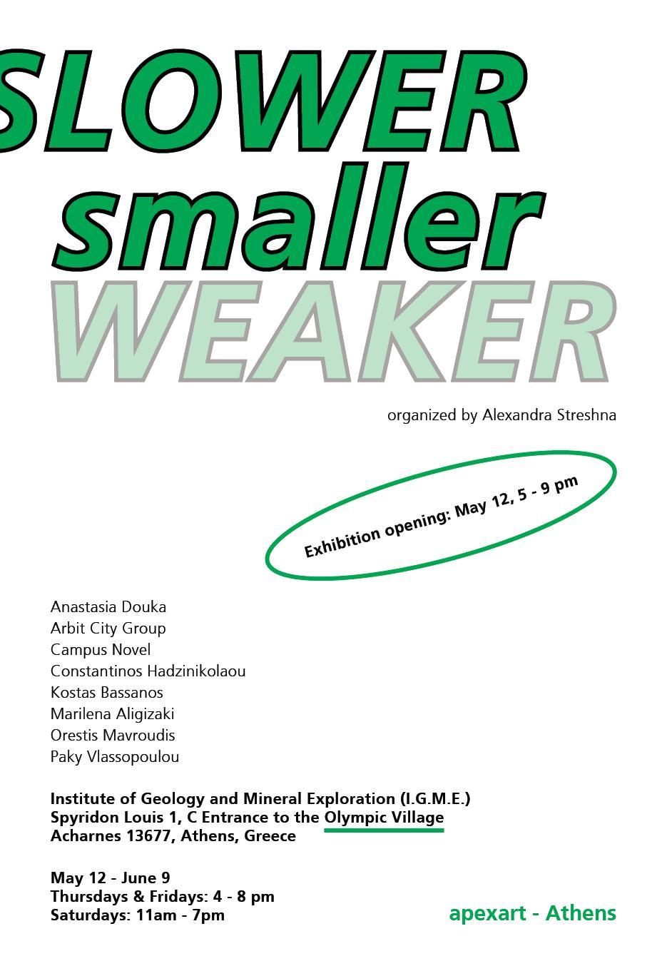 • Slower, Smaller, Weaker – Poster 2